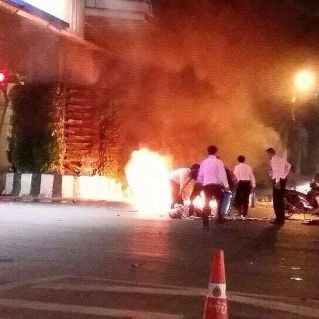 У центрі Бангкока, столиці Таїланду, прогримів потужний вибух, є загиблі і поранені (10 фото + відео)