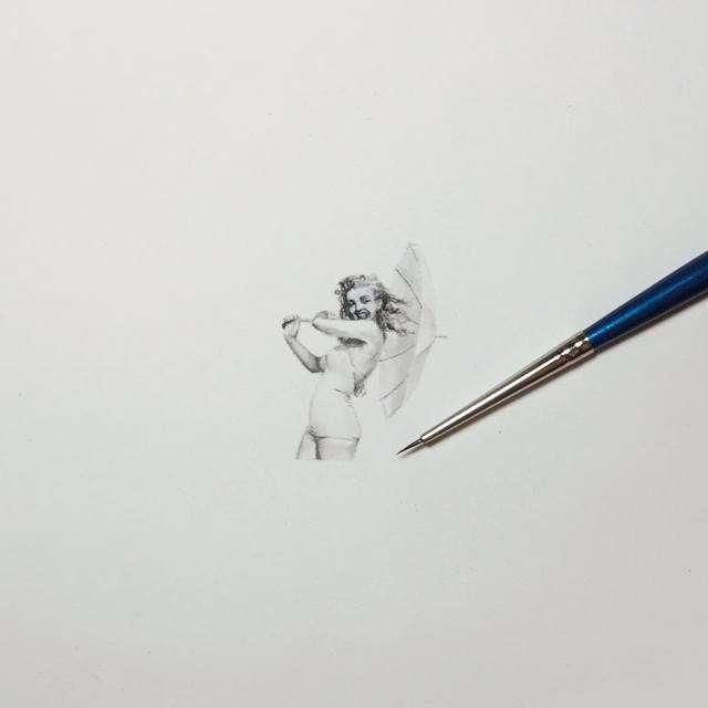 Дивно точні мініатюрні малюнки Карен Лайбкэп (Karen Libecap) (32 картинки)