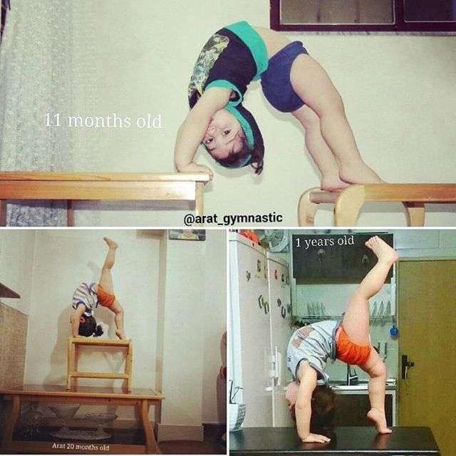 Неймовірні здібності дворічного гімнаста Арата Хоссейні (15 фото)