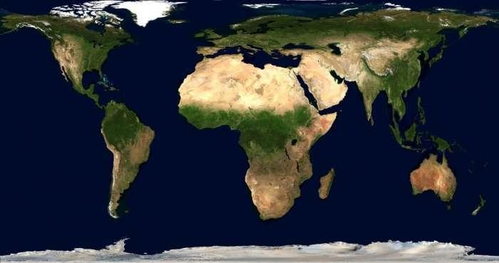 Як звичайні карти спотворюють розміри географічних обєктів (4 фото)