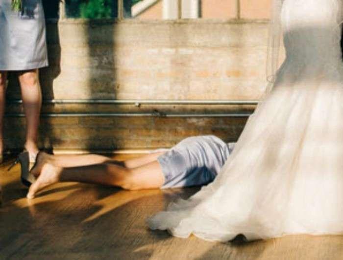 Незвичайне весільне фото американської пари (2 фото)