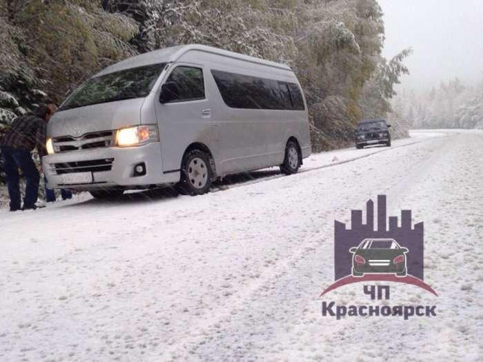 Під Красноярському випав перший сніг (2 фото)