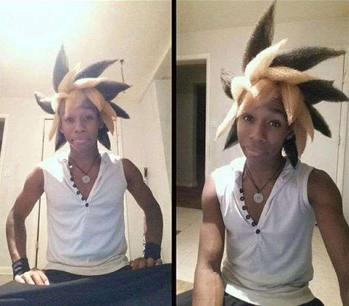Американський студент, натхненний персонажем манги, створив унікальну зачіску (7 фото)