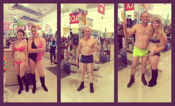 Жителі Гродно роздяглися заради безкоштовної пари взуття (6 фото)