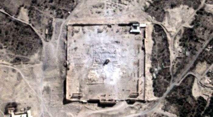 В ООН підтвердили знищення стародавнього храму в Пальмірі (2 фото)