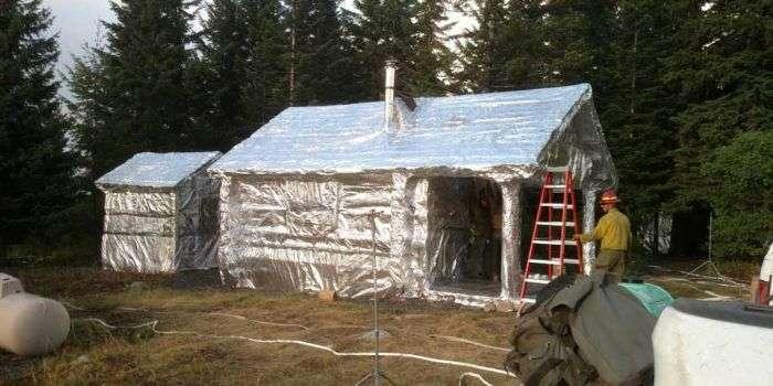 У США знайшли оригінальний спосіб захисту будинків від лісових пожеж (3 фото)