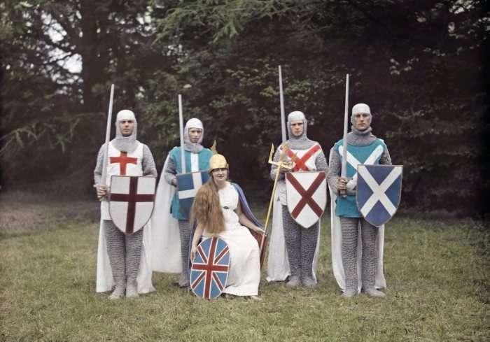 Кольорові фотографії Великобританії та її жителів, 20-ті роки XX століття (21 фото)