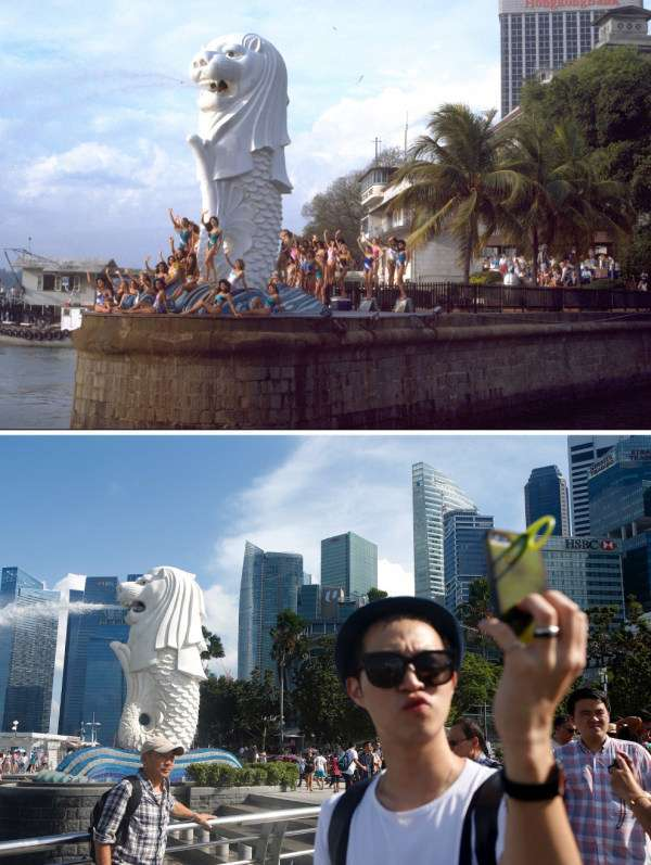 Фото Сінгапуру 50 років тому і зараз (9 фото)
