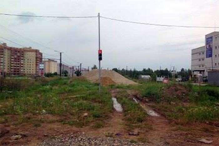 У Ярославлі на пустирі встановили світлофор (3 фото)