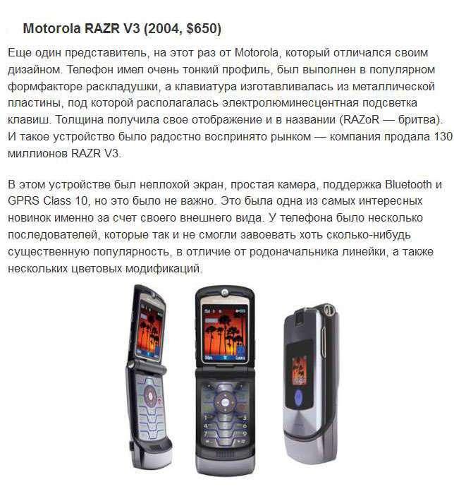 Топ-10 мобільних телефонів, які були популярними раніше (10 фото)