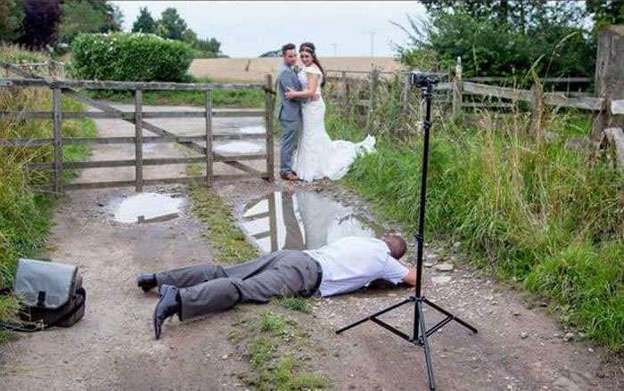 На що йдуть фотографи заради вдалого весільного фото (2 фото)