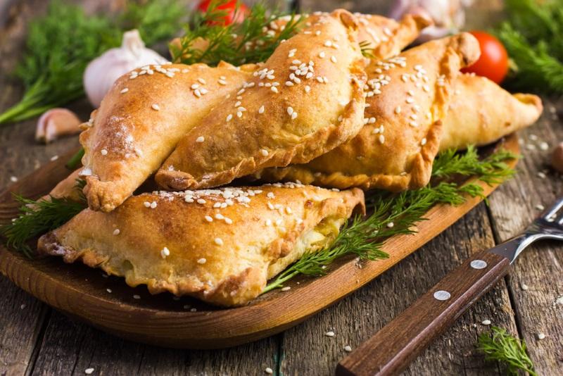 Как приготовить пирожки для пикника Кулинария,Закуски,Зелень,Пикник,Пирожки,Сыр,Тесто