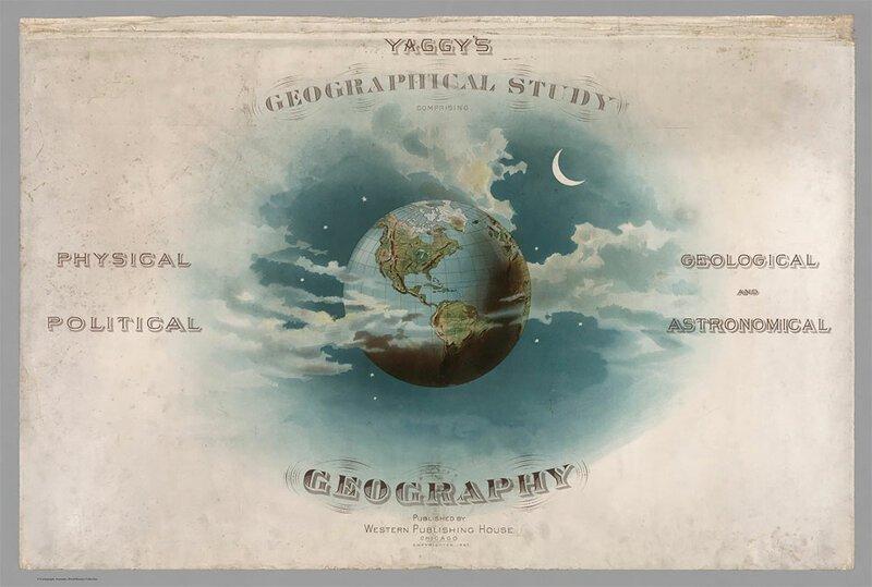 Географические карты и иллюстрации из атласа 19 века   Интересное