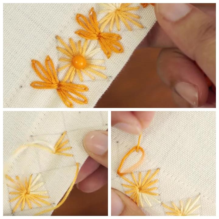 Невероятно красивая и простая вышивка для украшения одежды вышивка,женские хобби,рукоделие,своими руками