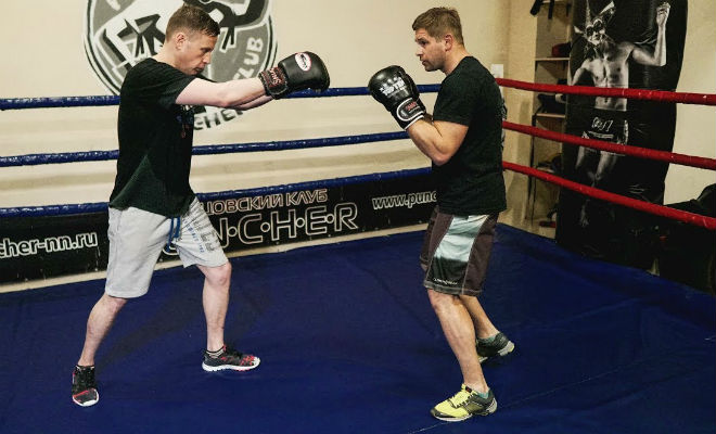 Прием Торпеда: как остановить агрессивного соперника бокс,ММА,спортъ,торпеда,Тренинг,упражнение