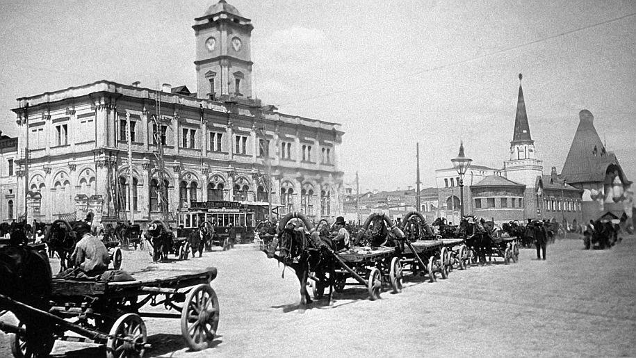 Москва без метро: время торжества коней История России,кони,Москва