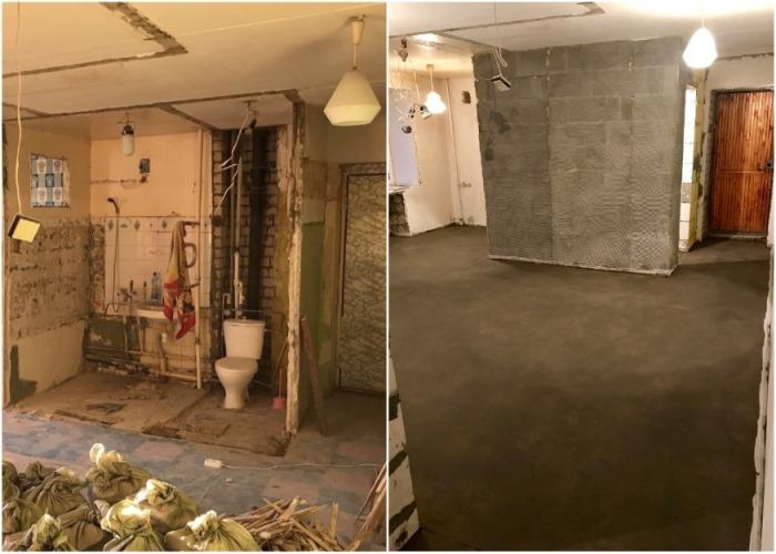 Хозяин «хрущевки» сломал ненужные стены и превратил ее в современные апартаменты интерьер и дизайн,перепланировка,ремонт и строительство,хрущевка